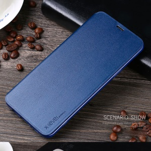 X-LEVEL PU Leather Case with Stand for Samsung Galaxy S9+ SM-G965 - Blue
