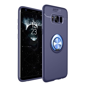 Magnetic Finger Ring Kickstand TPU Mobile Casing for Samsung Galaxy S8 G950 - Blue