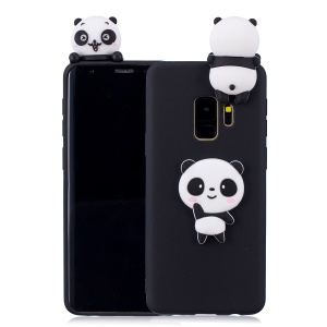Black Background Panda