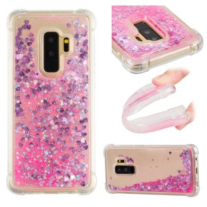 Dynamic Glitter Powder Sequins TPU Shockproof Case for Samsung Galaxy S9+ SM-G965 - Rose