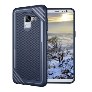 Armor Anti-slip TPU Protective Cover Case for Samsung Galaxy A8 (2018) - Blue