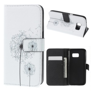 Wallet Leather Cover for Samsung Galaxy S7 - Dandilion