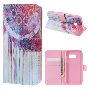 Wallet Leather Shell for Samsung Galaxy S7 - Watercolor Dream Catcher
