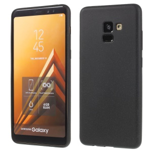 Skin-touch Matte TPU Jelly Protective Casing for Samsung Galaxy A8 (2018) - Black