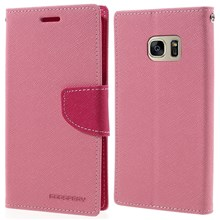 MERCURY GOOSPERY Wallet Leather Shell for Samsung Galaxy S7 - Pink