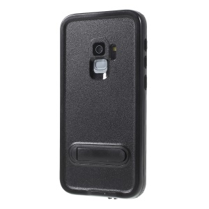 REDPEPPER Dustproof Snowproof Waterproof TPU + PC Cover with Kickstand for Samsung Galaxy S9 SM-G960 - Black