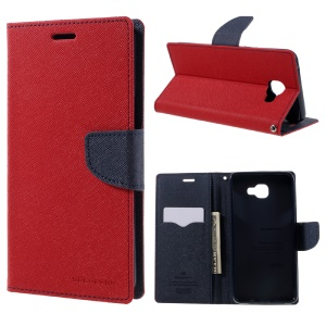 MERCURY GOOSPERY Leather Wallet Case for Samsung Galaxy A9 (2016) - Red