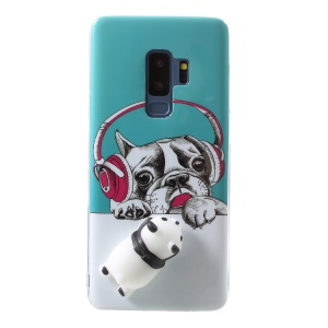 Squishy 3D Animal TPU Phone Case for Samsung Galaxy S9+ SM-G965 - Dog