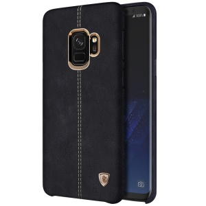 NILLKIN Englon Series Leather Coated Hard Plastic Case for Samsung Galaxy S9 SM-G960 - Black