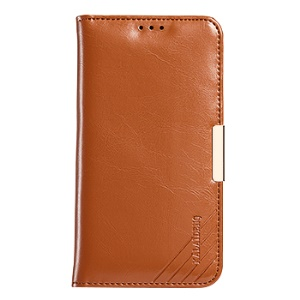 KLD Royal II Series Genuine Leather Stand Case for Samsung Galaxy S7 edge - Brown