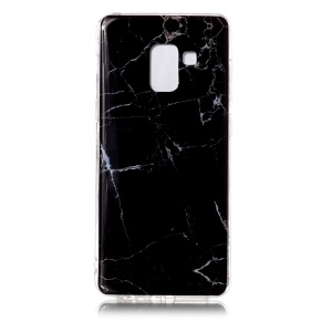 IMD Patterned TPU Back Case for Samsung Galaxy A8 (2018) - Black Marble