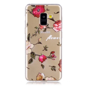 Patterned Soft TPU Phone Cover for Samsung Galaxy A8 (2018) - Vivid Flowers