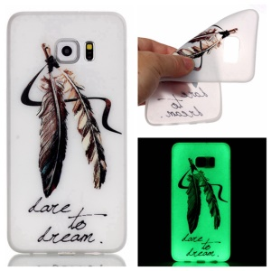 Luminous Glow TPU Back Case for Samsung Galaxy S7 - Feathers Dare to Dream