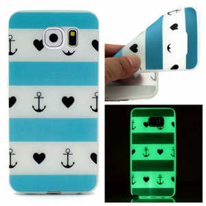 Noctilucent Gel TPU Cover for Samsung Galaxy S7 - Anchors Hearts Stripes