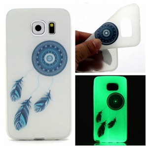 Noctilucent TPU Phone Case for Samsung Galaxy S7 - Blue Dream Catcher