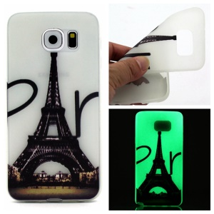 Noctilucent TPU Skin Cover Case for Samsung Galaxy S7 - Eiffel Tower