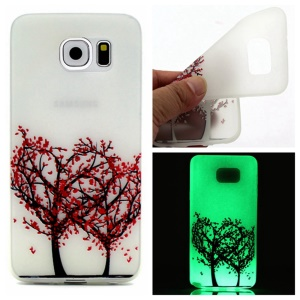 Luminous Slim TPU Back Case for Samsung Galaxy S7 - Tree with Red Leaves
