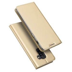 DUX DUCIS Skin Pro Series PU Leather Card Holder Shell for Samsung Galaxy A6 Plus (2018) / A9 Star Lite - Gold