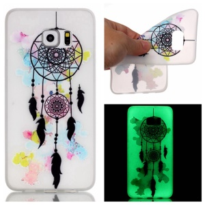 Noctilucent TPU Gel Phone Case for Samsung Galaxy S7 edge - Dream Catcher