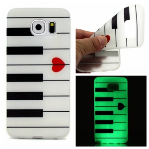Noctilucent TPU Gel Phone Shell for Samsung Galaxy S7 edge - Piano