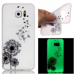 Noctilucent TPU Gel Phone Shell for Samsung Galaxy S7 edge - Flying Dandelion