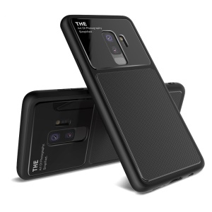 LENUO Tempered Glass Lens TPU Case for Samsung Galaxy S9+ SM-G965 - Black