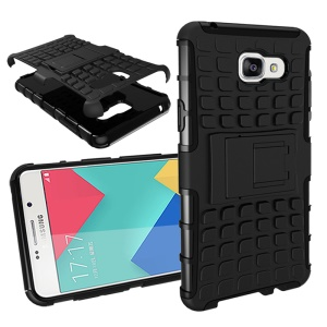 TPU PC Hybrid Case for Samsung Galaxy A5 SM-A510F (2016) with Kickstand - Black