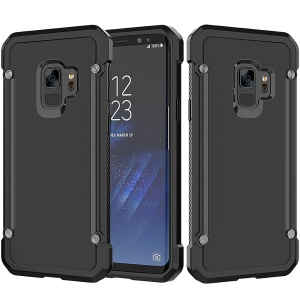 Beetle Combo TPU Edges PC Hard Mobile Casing for Samsung Galaxy S9 SM-G960 - Black