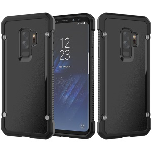 Beetle Combo TPU Edges PC Hard Cellphone Case for Samsung Galaxy S9 Plus SM-G965 - Black