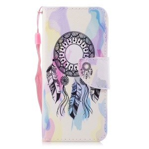 Pattern Printing Leather Card Holder Case for Samsung Galaxy S9 SM-G960 - Dream Catcher