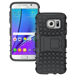 PC + TPU Hybrid Case with Kickstand for Samsung Galaxy S7 SM-G930 - Black
