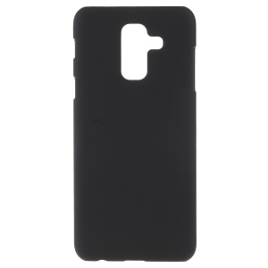 Rubberized Hard Plastic Phone Case for Samsung Galaxy A6 Plus (2018) / A9 Star Lite - Black