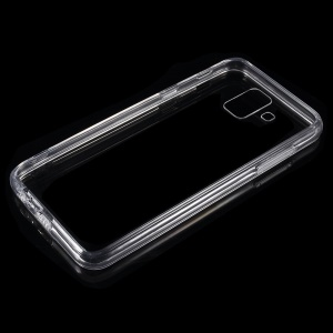 Crystal Clear Acrylic+ TPU Hybrid Back Case for Samsung Galaxy A6 (2018) - Transparent