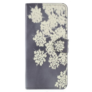 Pattern Printing PU Leather Magnetic Wallet Stand Cell Phone Shell for Samsung Galaxy A6 (2018) - Dandelion