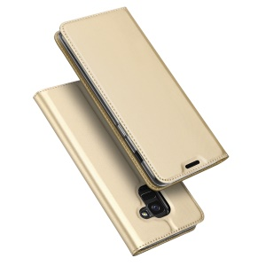 DUX DUCIS Skin Pro Series Flip Leather Mobile Casing for Samsung Galaxy J6 (2018) - Gold