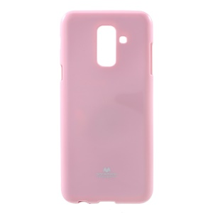 MERCURY GOOSPERY Glitter Powder TPU Mobile Cover Shell for Samsung Galaxy A6+ (2018) - Pink