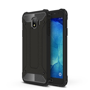 Armor Guard Plastic + TPU Hybrid Phone Case for Samsung Galaxy J4 (2018) - Black