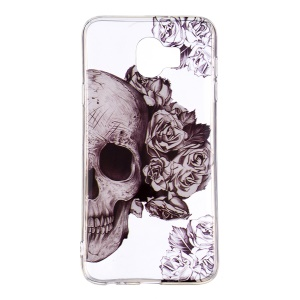 Pattern Printing IMD Slim TPU Protective Case for Samsung Galaxy J4 (2018) - Sugar Skull