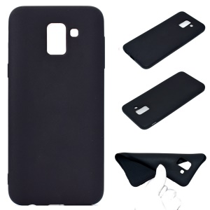 Soft Frosted TPU Case for Samsung Galaxy J6 (2018) - Black
