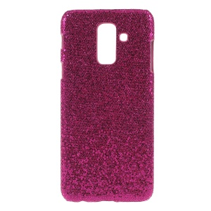 PU Leather Coated PC Hard Case for Samsung Galaxy A6 (2018) - Rose Glitter Sequins