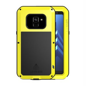 Yellow - LOVE MEI for Samsung Galaxy A8 (2018) Dust-proof Shock-proof Splash-proof Defender Phone Casing