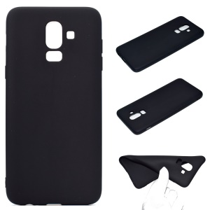 Solid Color Matte Soft TPU Phone Case for Samsung Galaxy J8 (2018) - Black