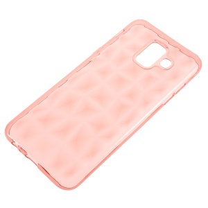 3D Diamond Texture TPU Mobile Phone Case for Samsung Galaxy A6 (2018) - Rose