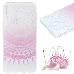 Pattern Printing Soft TPU Cell Phone Case for Samsung Galaxy A9 (2018) - Pink Lotus
