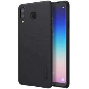 NILLKIN Super Frosted Shield PC Hard Case + Screen Protector for Samsung Galaxy A8 Star / A9 Star (China) - Black