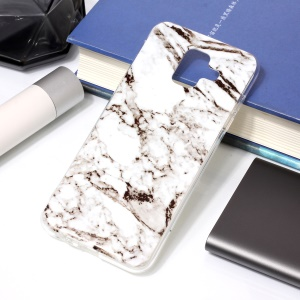 Patterned IMD TPU Phone Case for Samsung Galaxy A6 (2018) - Grey Marble