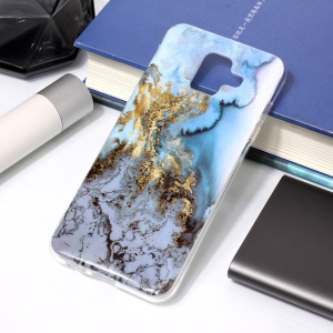 Pattern Printing IMD TPU Back Cover Protector for Samsung Galaxy A6 (2018) - Lava Pattern