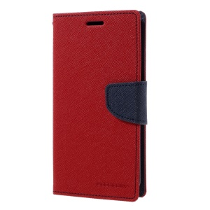 MERCURY GOOSPERY Fancy Diary Leather Cover for Samsung S7 edge G935 - Red