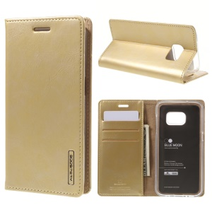 MERCURY GOOSPERY Blue Moon PU Leather Wallet Case for Samsung Galaxy S7 G930 - Champagne Gold