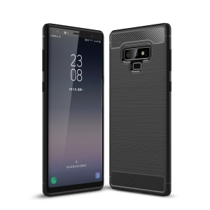 Carbon Fiber Texture Brushed TPU Phone Case for Samsung Galaxy Note 9 - Black